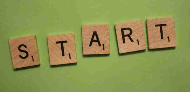 "Get Started, ""start"", scrabble letters"