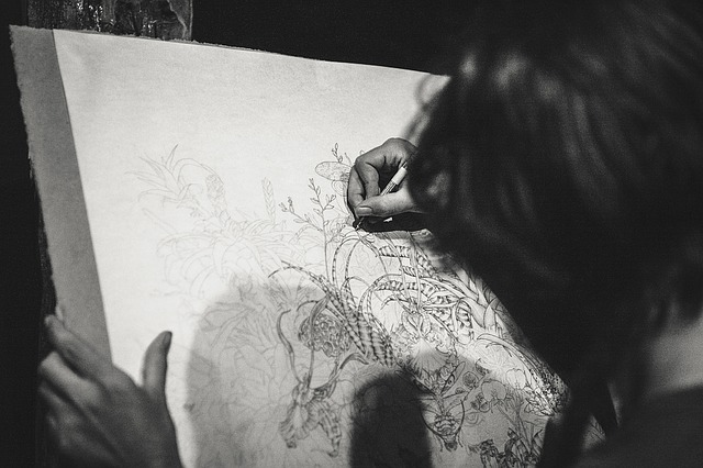 canvas photo, drawing a dragon